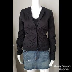Prada soft black colored ruched jacket